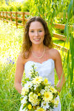 Beautiful Bride in Wedding Dress Stock Photos