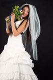 Beautiful bride in a wedding dress Royalty Free Stock Photo