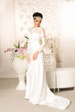 Beautiful bride in wedding dress Royalty Free Stock Images