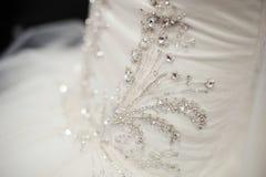 Beautiful bride wedding dresses separately Stock Photos