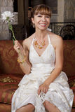 Beautiful Bride in Wedding Gown Royalty Free Stock Photos