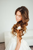 Beautiful bride. Wedding hairstyle and make up. Royalty Free Stock Photo