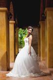 Beautiful bride wedding the park Royalty Free Stock Photos