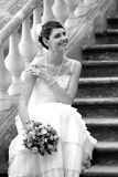 Beautiful bride in white Royalty Free Stock Images
