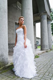 Beautiful bride in white dress Royalty Free Stock Photo