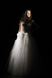 Beautiful bride in white dress Royalty Free Stock Photography