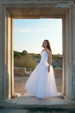 Beautiful bride. In the white dress Stock Image