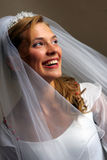 Beautiful bride in white dress Stock Photo