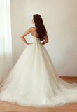 Beautiful bride in white wedding dress mariage Royalty Free Stock Image