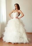 Beautiful bride in white wedding dress mariage Royalty Free Stock Photos
