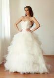 Beautiful bride in white wedding dress mariage Royalty Free Stock Photos