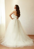 Beautiful bride in white wedding dress mariage Stock Photo