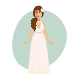 Beautiful bride woman in a wedding dress. Stock Photos