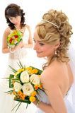 Beautiful brides Stock Photos