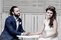 Beautiful brides wedding Stock Images