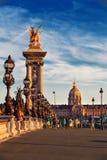 Beautiful bridge of Alexandre III Stock Photo