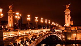 Beautiful bridge of Alexandre III Royalty Free Stock Photo