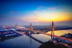 Beautiful Bridge And River Landscapes Stock Photography