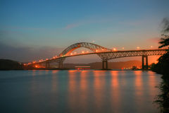 Beautiful bridge called Puente de las Americas Royalty Free Stock Images