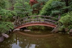 A Bridge in a Serene Setting Royalty Free Stock Images