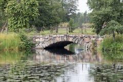 Beautiful bridge made of stone Royalty Free Stock Images