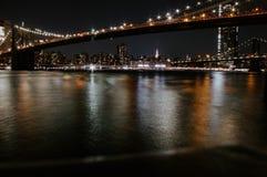 The beautiful bridge of Manhattan royalty free stock photography