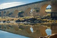 El Puente del Arzobispo, province of Toledo, Castille-La Mancha, Spain. The archbishop`s bridge. royalty free stock photos