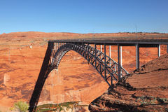 Beautiful bridge next to the Glen Canyon Dam Royalty Free Stock Images