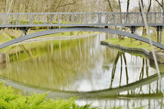Beautiful bridge over the lake Royalty Free Stock Photo