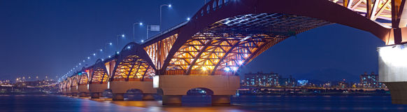 Beautiful bridge in South Korea Royalty Free Stock Images