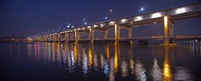 Beautiful bridge in South Korea stock photography