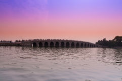 Beautiful bridge at Summer Palace on 23 May 2013 Stock Photos