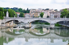 Beautiful bridges along the Tiber in Rome Royalty Free Stock Photos