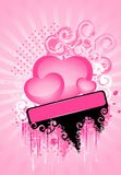 Beautiful bright background with pink hearts Stock Image