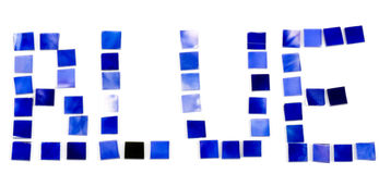 beautiful bright blue word stock photo