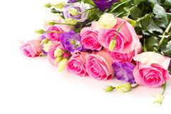 Beautiful bright bouquet of roses Stock Photos