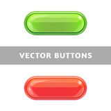 Beautiful bright buttons for applications and web sites. Royalty Free Stock Photo