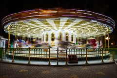beautiful bright carousel royalty free stock image