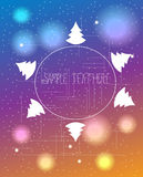 Beautiful bright Christmas background Stock Photos