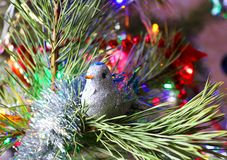 Beautiful, bright, colorful decorations for your home and a Christmas tree on a Christmas and New Year holiday. Beautiful, bright, colorful decorations for home Royalty Free Stock Images