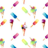 Beautiful bright colorful delicious tasty yummy cute lovely summer dessert frozen juice and ice cream in horn diagonal pattern Royalty Free Stock Photo