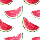 Beautiful bright colorful delicious tasty yummy ripe juicy cute lovely red summer fresh dessert slices of watermelon and bee Royalty Free Stock Photo