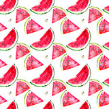 Beautiful bright colorful delicious tasty yummy ripe juicy cute lovely red summer fresh dessert slices of watermelon and bee patte Royalty Free Stock Photography