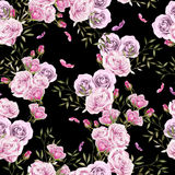 Beautiful Bright Colorful Watercolor Pattern With Rose Flowers. Royalty Free Stock Photos