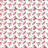 Beautiful bright cute elegant lovely floral colorful spring summer pink and red roses with buds and leaves bouquets diagonal patte Stock Image