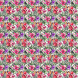 Beautiful bright cute lovely wonderful green tropical hawaii floral herbal summer colorful pattern of tropical red violet purple p Stock Photography