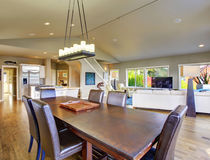Beautiful bright dinning room. Royalty Free Stock Photo