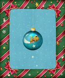 Beautiful bright festive frame. Garland green greeting card for Christmas or New Year. Computer graphics Stock Images