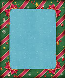 Beautiful bright festive frame. Garland green greeting card for Christmas or New Year. Computer graphics Royalty Free Stock Photography