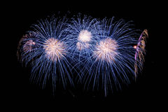 Beautiful bright fireworks. With black isolated background Stock Photography